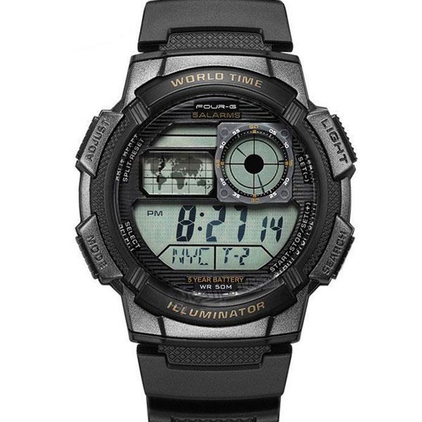 Ρολόι FOURG 343G-1-ΜΑΥΡΟ